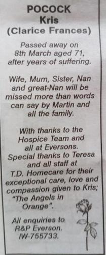 TD Homecare Services Ltd - Testimonial